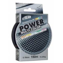 Pletená šňůra Straem POWER MULTI COLOR 150 m 0,18 mm
