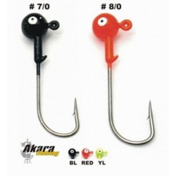 Jig head AKARA B-91751 (21g, Red, 6/0)