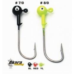 Jig head AKARA B-91751 (28g, Black, 7/0)