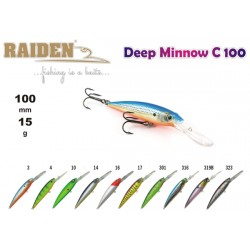 Wobler RAIDEN Deep Minnow (15g, 100 mm, 316)